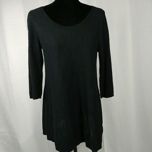 Moth Anthropologie black sweater with button back